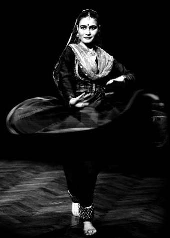 The Kathak Dancer Ioanna Srinivasan at a performance